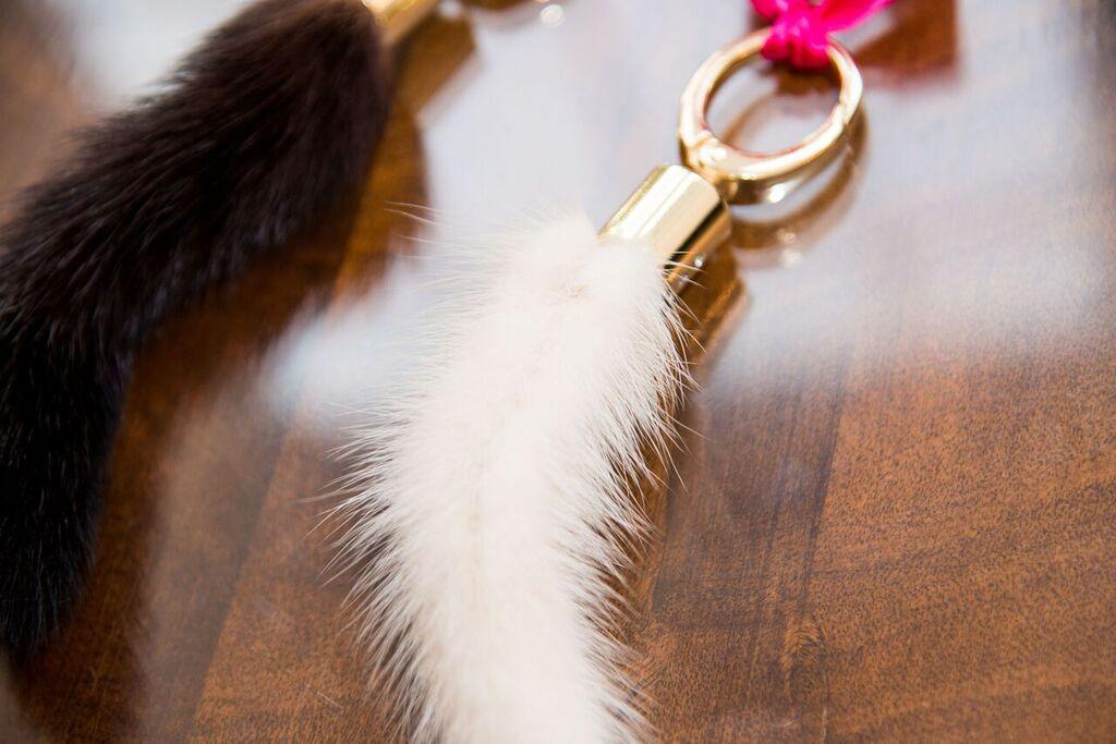 Mink tails key chains
