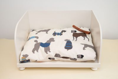 Cream dog bed