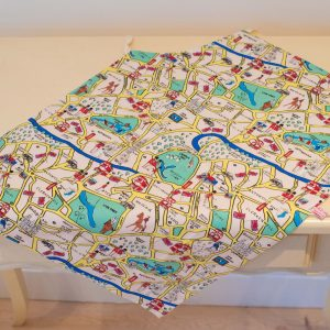 Child's London map apron