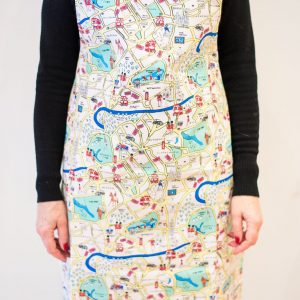 Adult London maps apron