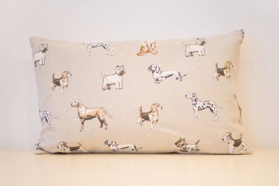Brown dogs cushion