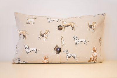 Brown dogs cushion