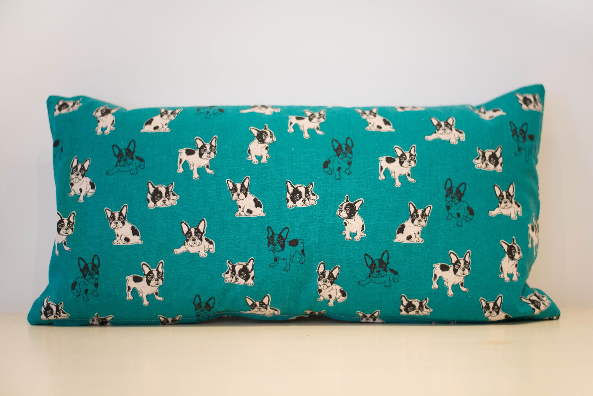 Blue French Bulldog cushion