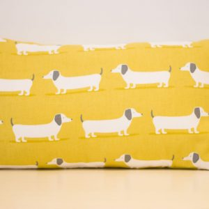 Yellow Sausage Dogs Cushion