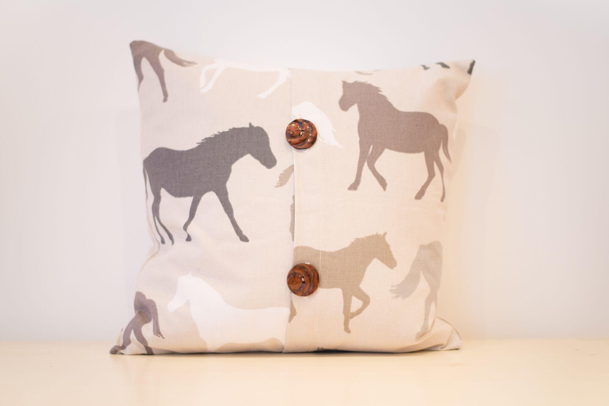 Brown Horses Cushion