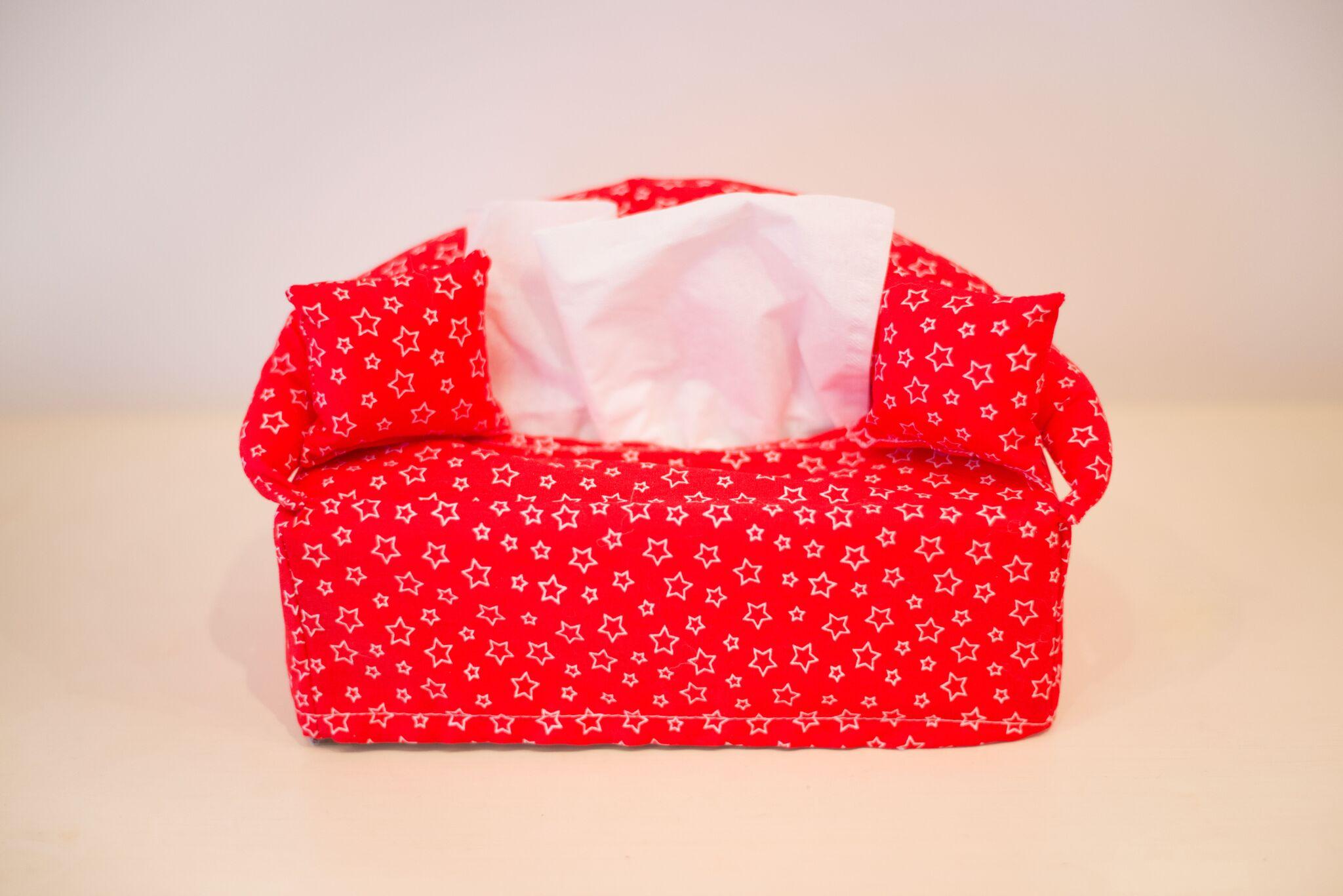 Red Stars Tissue Box