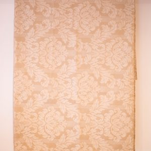 Cream brocade bedspread