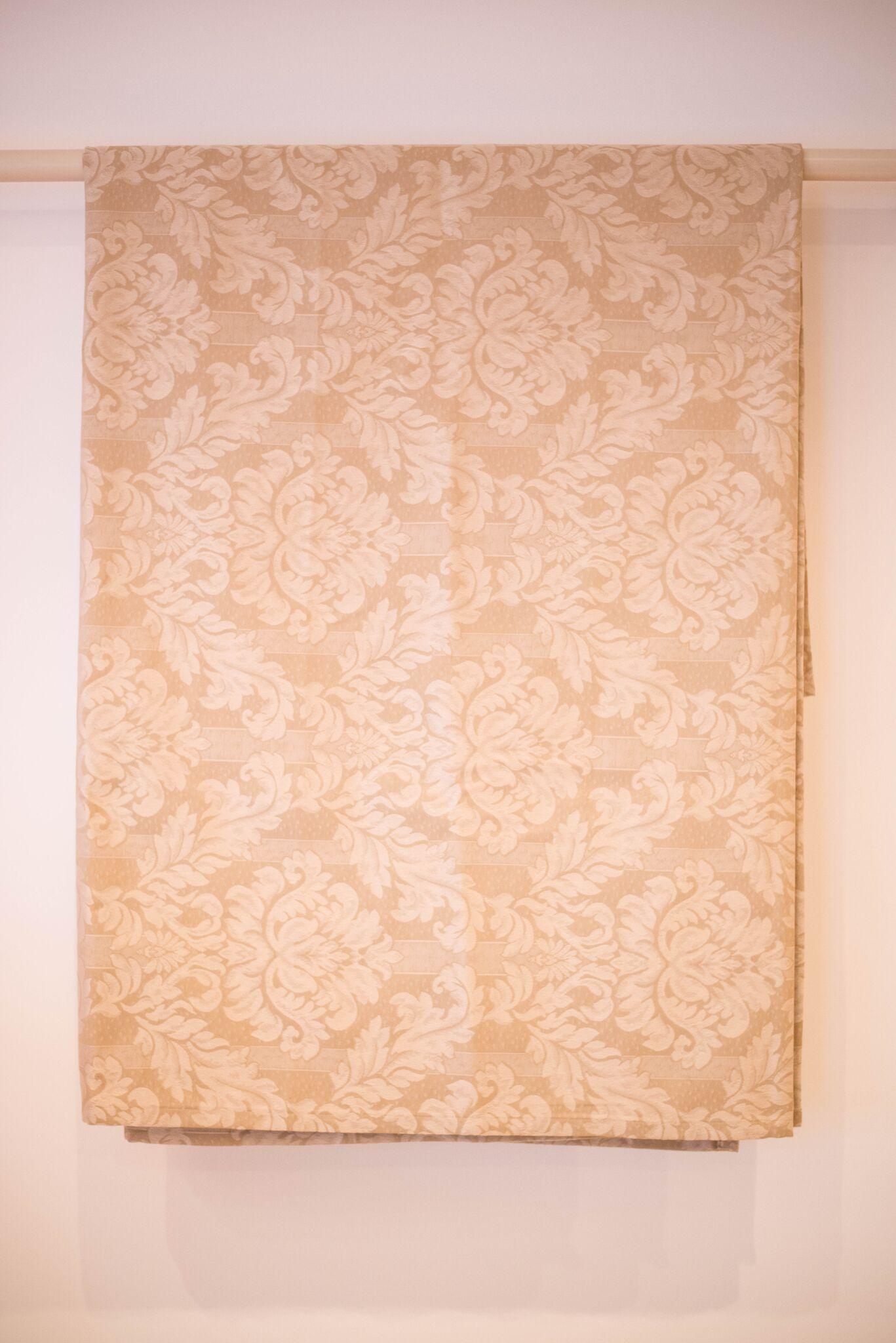 Cream brocade bedspread