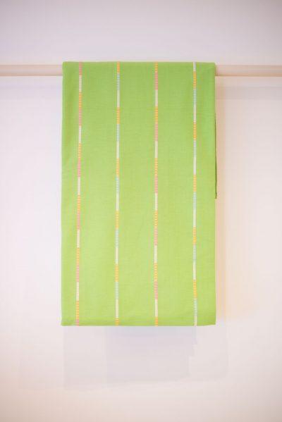 Green Striped Bedspread